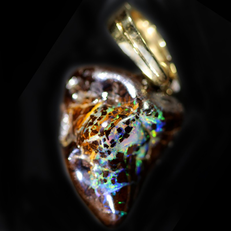 47.55 CTS BOULDER OPAL NUGGET -WITH  GOLD PEARL ENHANCER [SOJ6272]