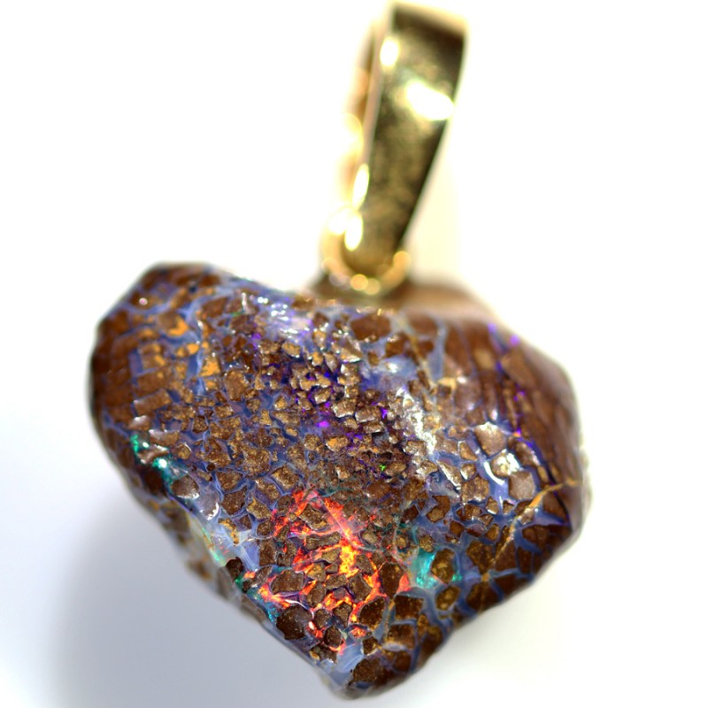 34.80 CTS BOULDER OPAL NUGGET -WITH  GOLD PEARL ENHANCER [SOJ6276]