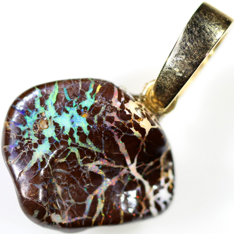 22.85 CTS BOULDER OPAL NUGGET -WITH  GOLD PEARL ENHANCER [SOJ6277]