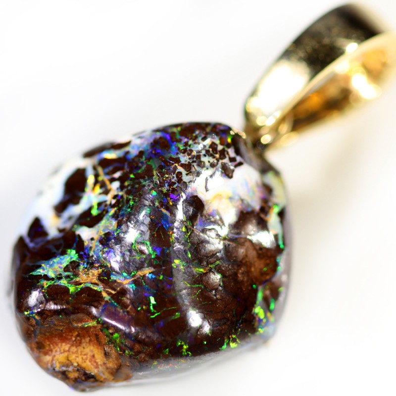 48.85 CTS BOULDER OPAL NUGGET -WITH  GOLD PEARL ENHANCER [SOJ6279]