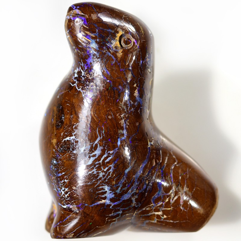 263.20 CTS BOULDER OPAL CARVING [BMA4501]