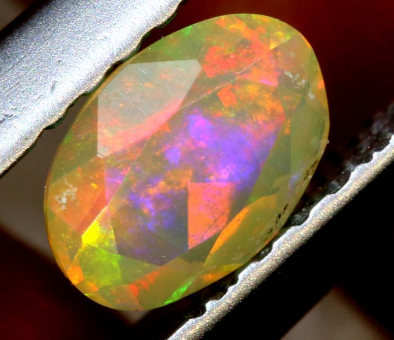 0.30 CTS ETHIOPIAN WELO FACETED OPAL STONE FOB-1251