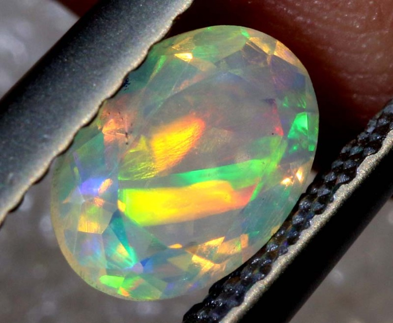 0.50 CTS ETHIOPIAN WELO FACETED OPAL STONE FOB-1262