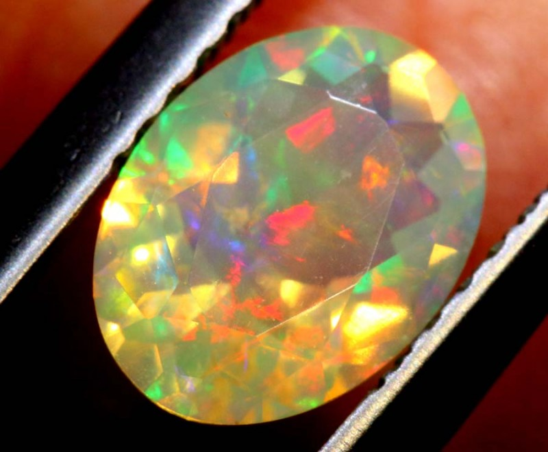 0.75 CTS ETHIOPIAN WELO FACETED OPAL STONE FOB-1268