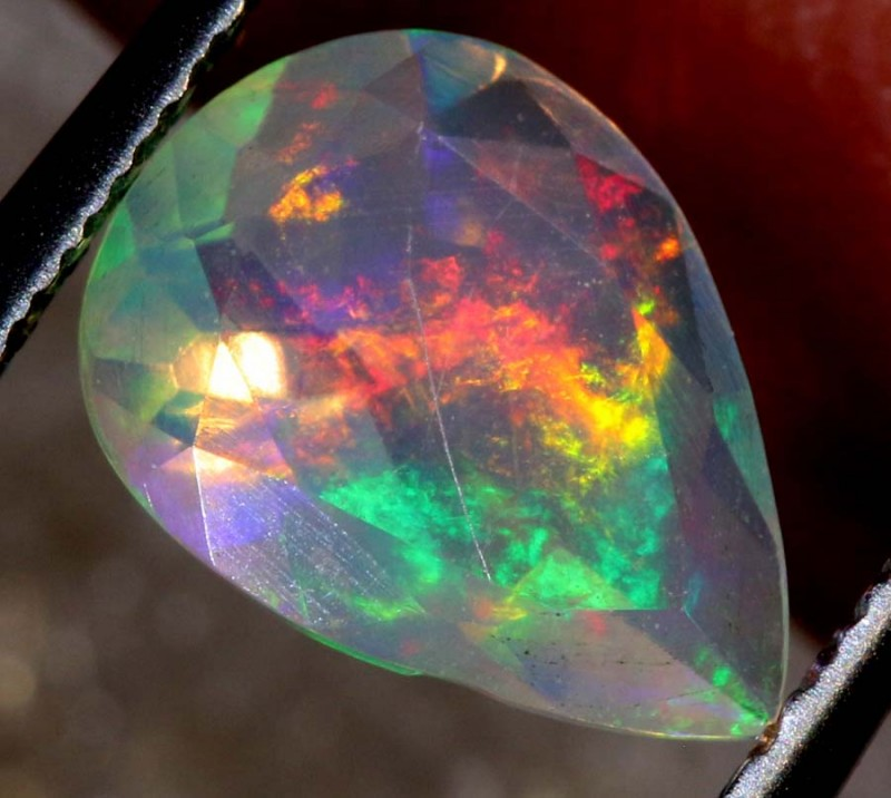 0.50 CTS ETHIOPIAN WELO FACETED OPAL STONE FOB-1281