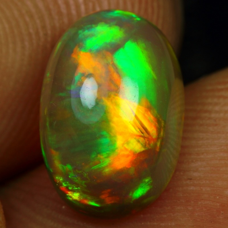 2.55cts RIBBON & BROAD FIRE Natural Ethiopian Welo Opal