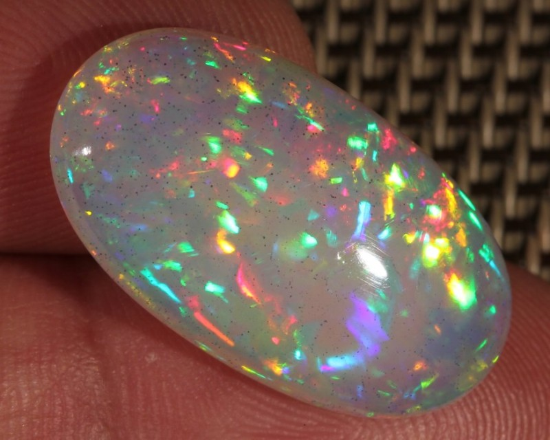 13.37CT~BRILLIANT 5/5 WELO OPAL CAB~CHAFF PATTERN