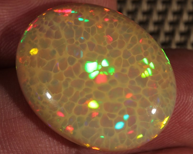 23.07CT~BRILLIANT 5/5 WELO OPAL CAB~HONEYCOMB OPAL