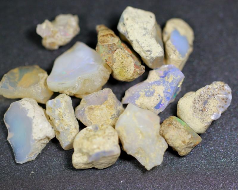 106ct Ethiopian Crystal Opal Rough Specimen Parcel