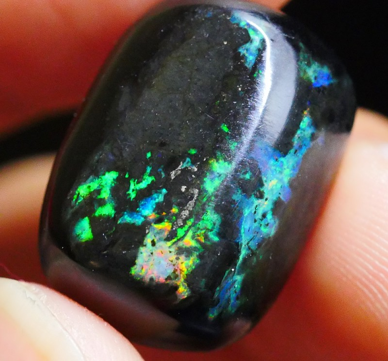16.65 CRT WOOD OPAL STUNING BRIGHT MULTICOLOR FIRE FLASH INDONESIAN OPAL