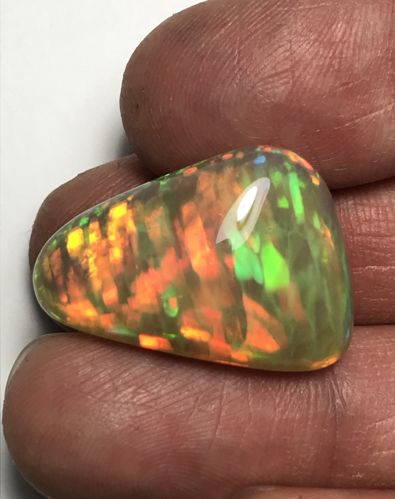32ct Brilliant 5/5 Ribbon/Honeycomb/Pinfire Mix Patterns Welo Ethiopia Opal