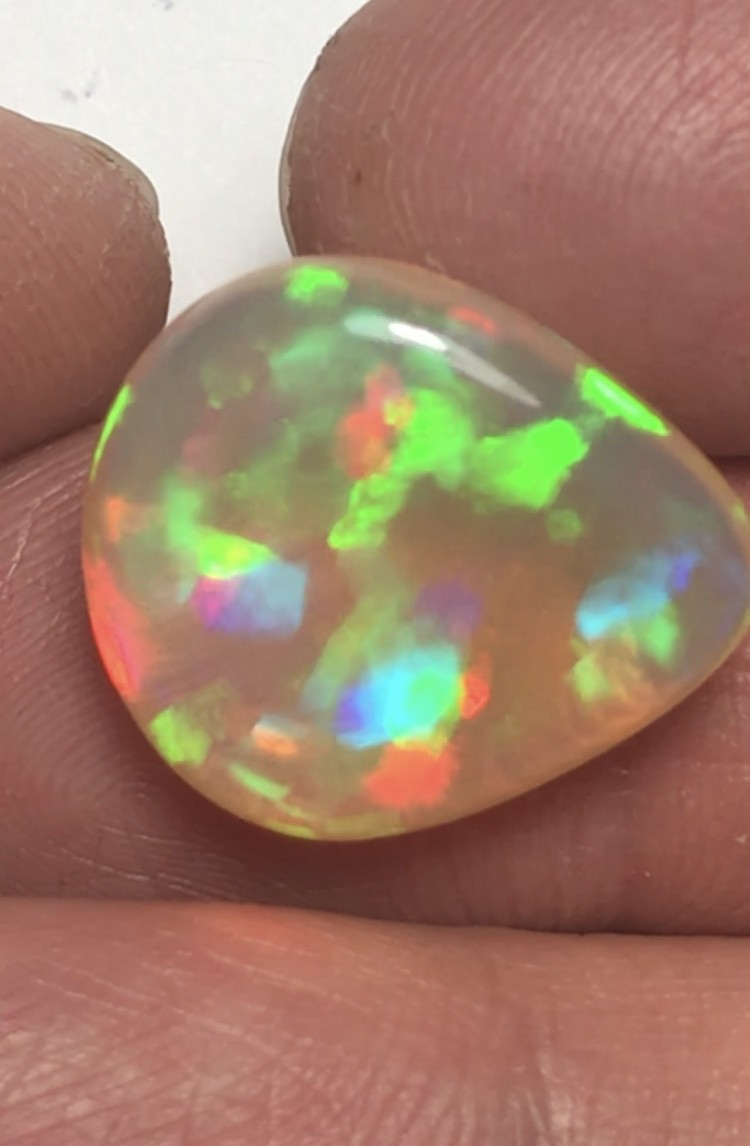 13.20ct Brilliant 5/5 Patchwork Pattern Welo Ethiopia Opal Cab.