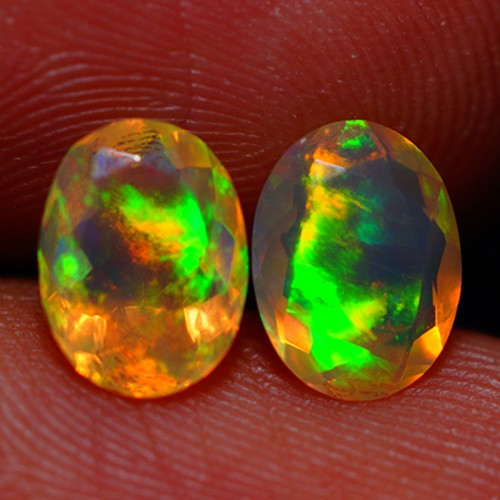 8X6 MM AAA QUALITY ETHIOPIAN CRYSTAL FACETED OPAL PAIR -AC185