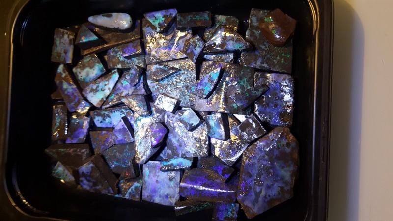 Dark Based Boulder Opal