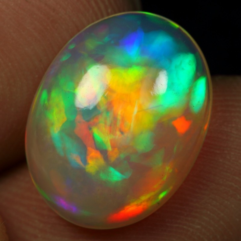 AAA 4.30cts NEON PATCHWORK Natural Ethiopian Welo Opal