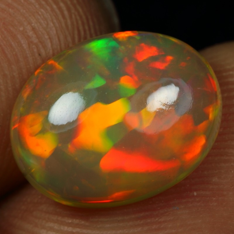3.15cts 5/5 CELL FIRE Natural Ethiopian Welo Opal