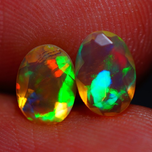7x5 MM AAA QUALITY ETHIOPIAN FACETED OPAL PAIR -AB385