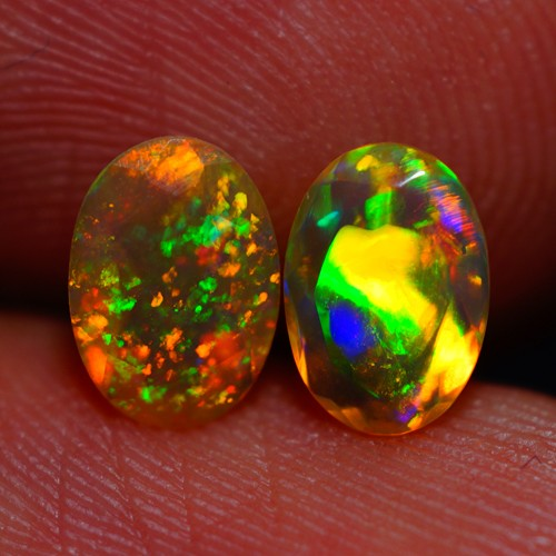 7x5 MM BROADFLASH PATTERN EXQUISITE FLASHY MULTI COLOR ETHIOPIAN FACETED OP