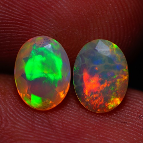 8X6 MM EXQUISITE QUALITY BEAUTIFUL FLASHY MULTI COLOR ETHIOPIAN FACETED OPA