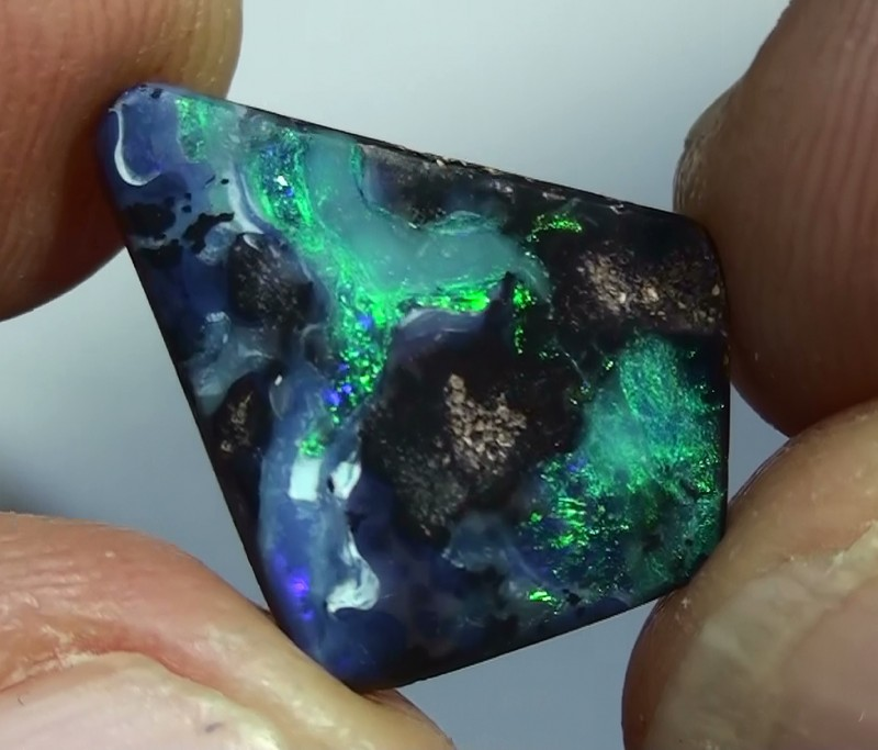 5.10 ct Boulder Opal With Natural Blue Green Color