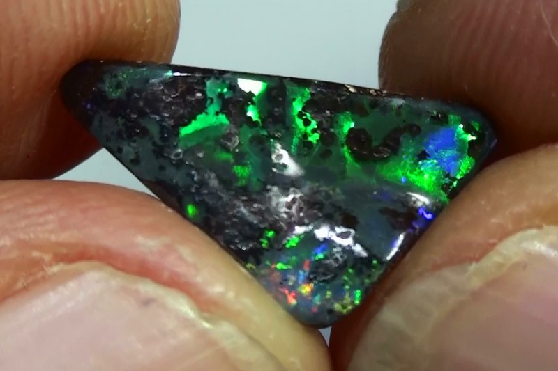 3.0 ct Boulder Opal Natural Gem Blue Green Color