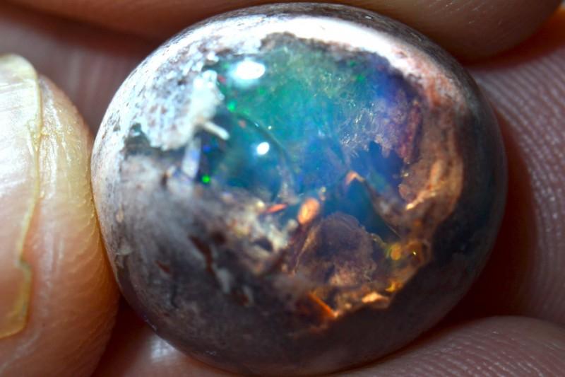 15.9ct Specimen Natural Mexican Matrix Cantera Multicoloured Fire Opal