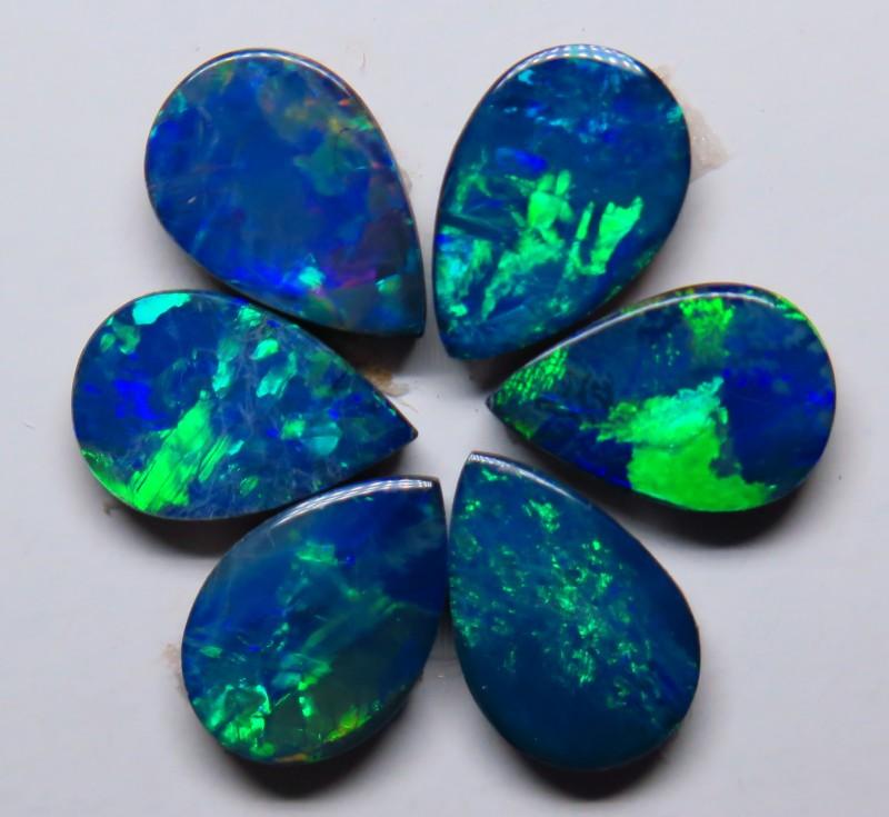 Australian Doublet Opal  6 Stone 9x6mm Drop Shape Parcel