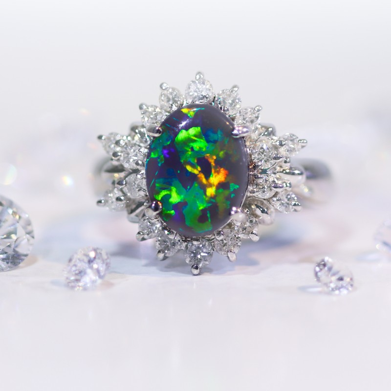 unique stewart kwon opal jennie natural rings martha two ring weddings vert engagement