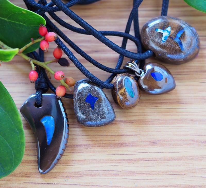 Parcel 5  opal inlay Pendant SU 355