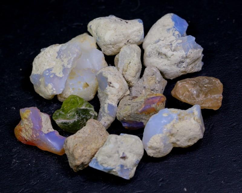 NR Lot 01 ~ 134Ct Welo Opal Rough Wholesale Lot