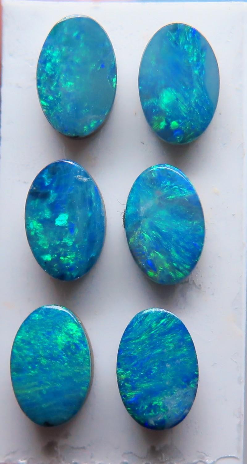 Australian Doublet Opal 6 stone 6x4mm parcel