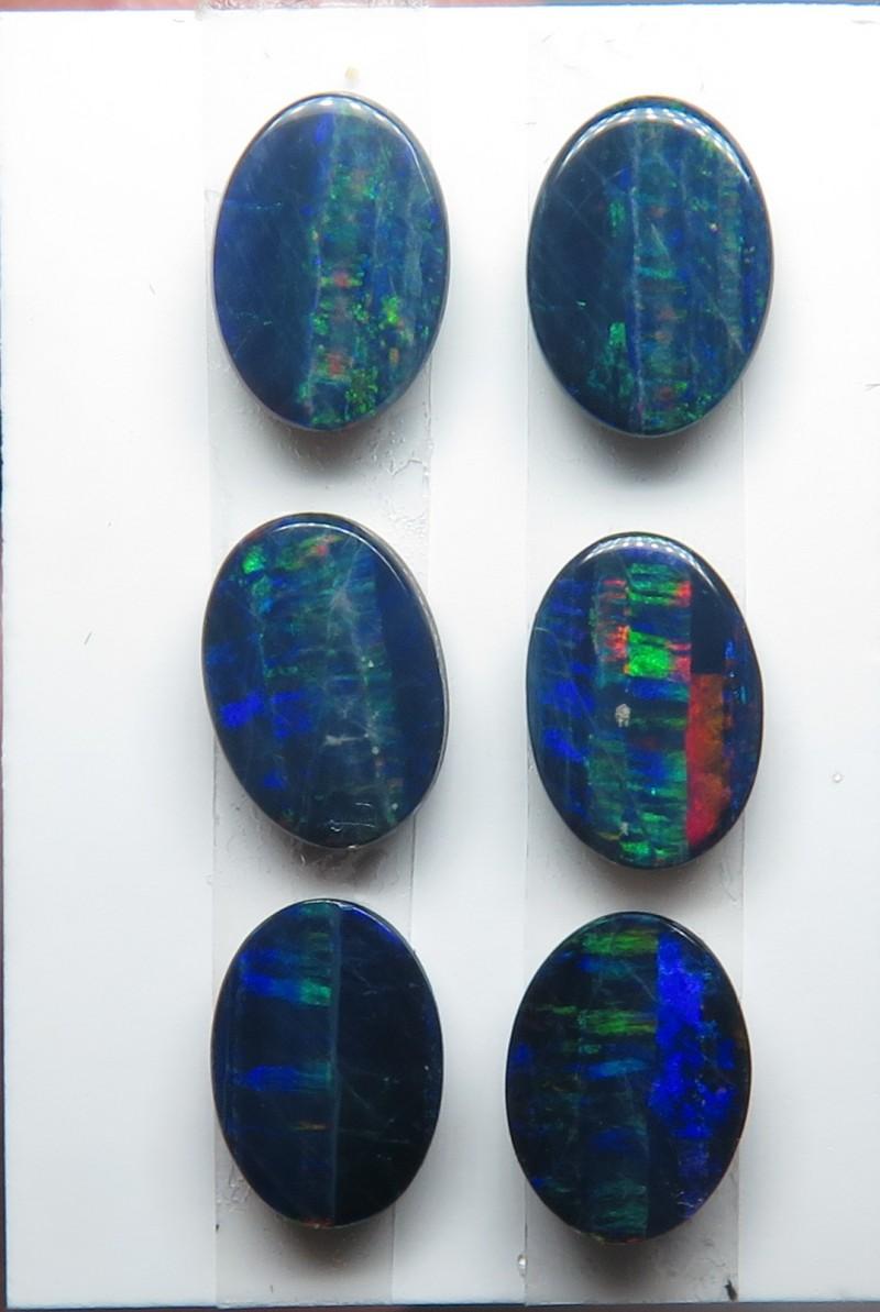 Australian Doublet Opal 3x pairs 7x5mm parcel