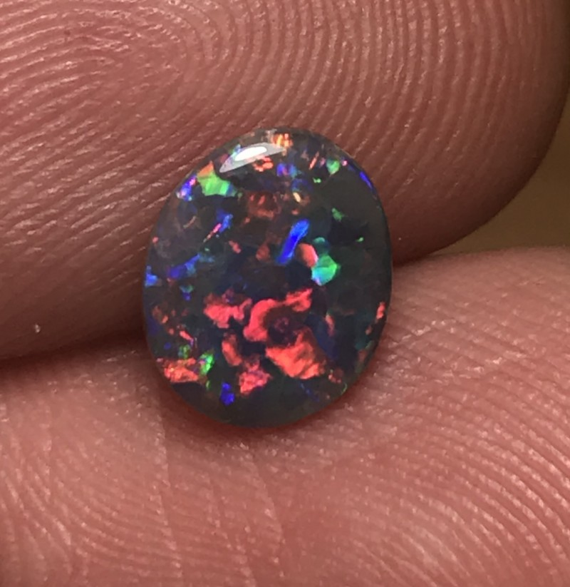 1.02ct Lightning Ridge Gem Black Opal LRS183