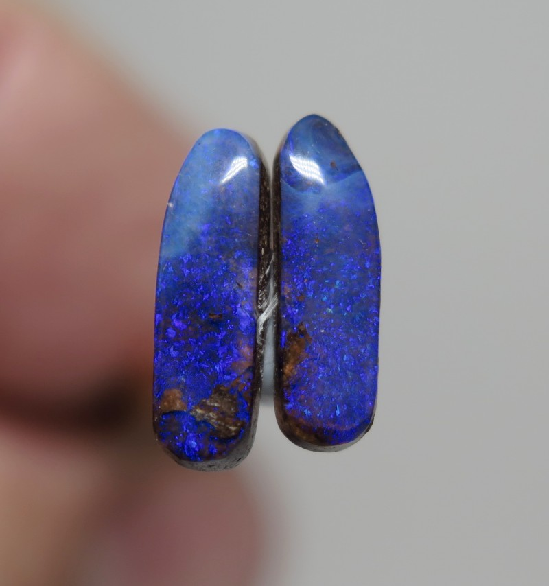 2.90Ct Queensland Boulder Opal Stone Pair