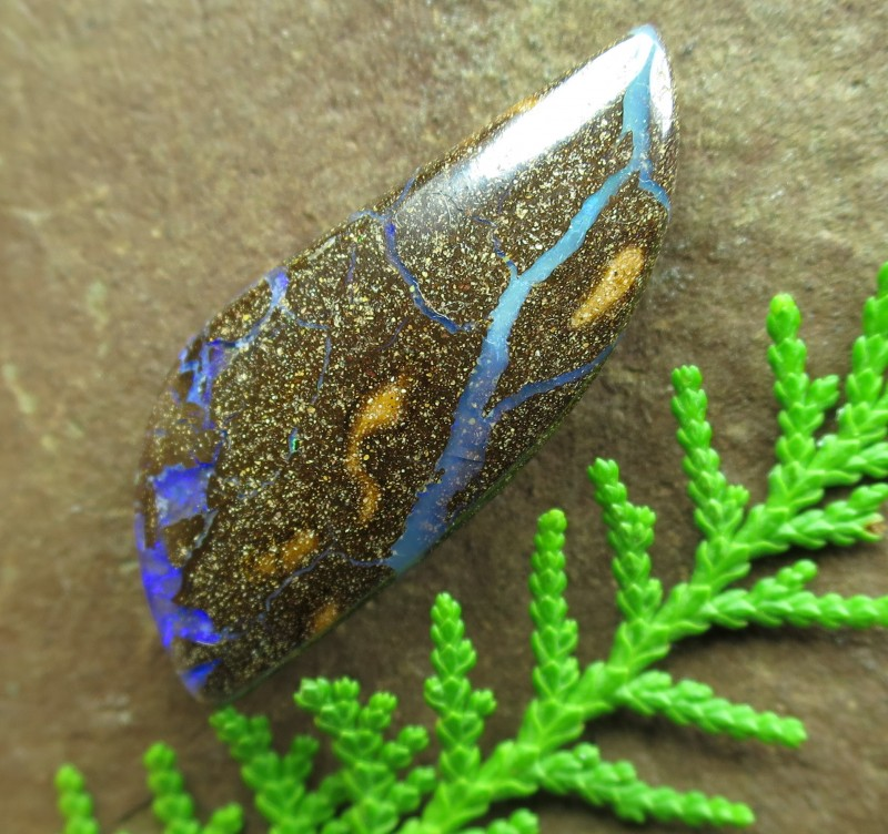 "31cts.""BOULDER OPAL~FROM OUR ACTIVE MINES"""