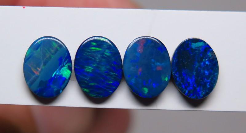 Australian Doublet Opal 4 stone 9 x 7mm parcel