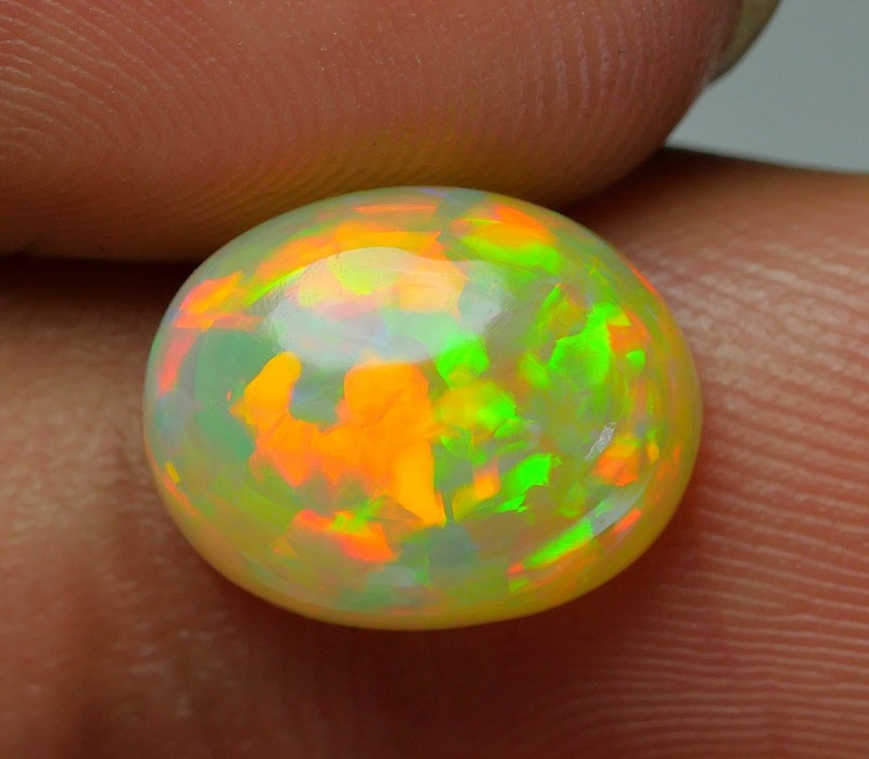 2.80 CRT STUNNING MILK BASE JIGSAW PUZZLE PATTERN NEON COLOR WELO OPAL