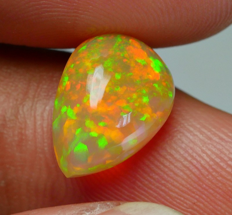 2.90 CRT BROWN BASE BRILLIANT PIN FIRE PATTERN WELO OPAL