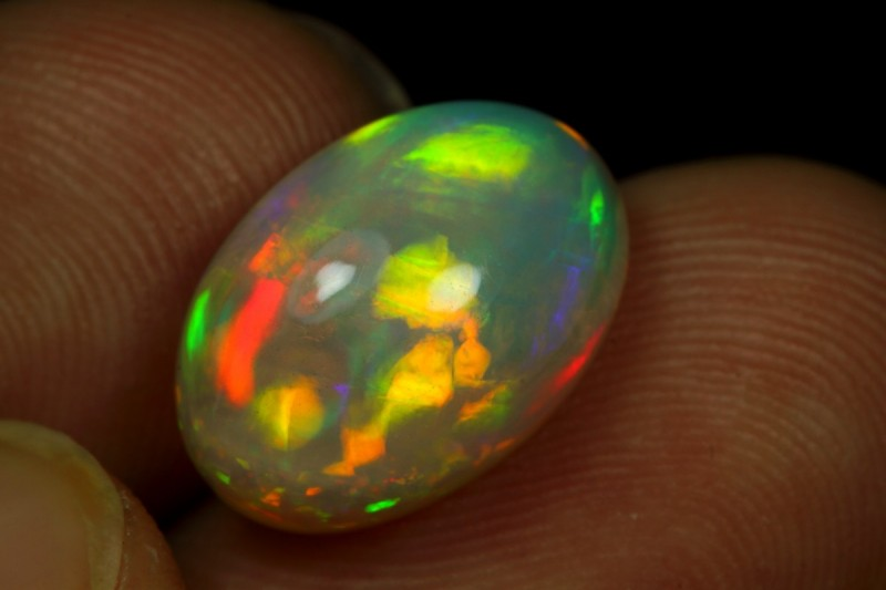 4.80cts 5/5 Brush Painting Ethiopian Opal