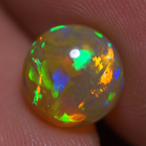 1.60 CT ROLLING FLASH ! EXCLUSIVE FLASHY MULTI COLOR ETHIOPIAN OPAL-AD35