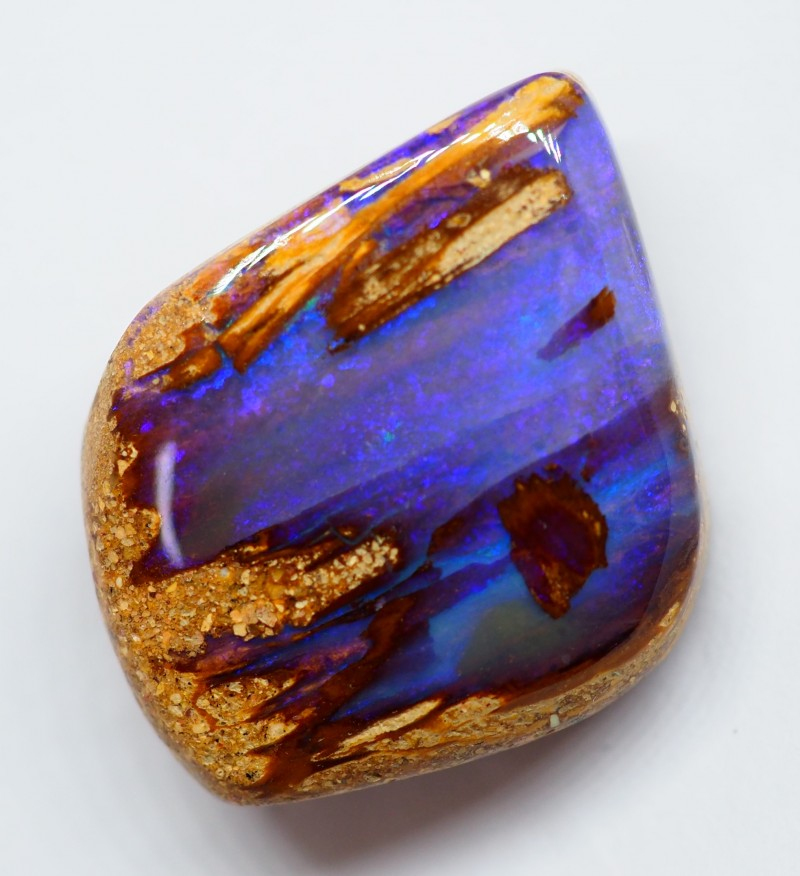 22.55CT VIEW PIPE WOOD REPLACEMENT BOULDER OPAL RI141