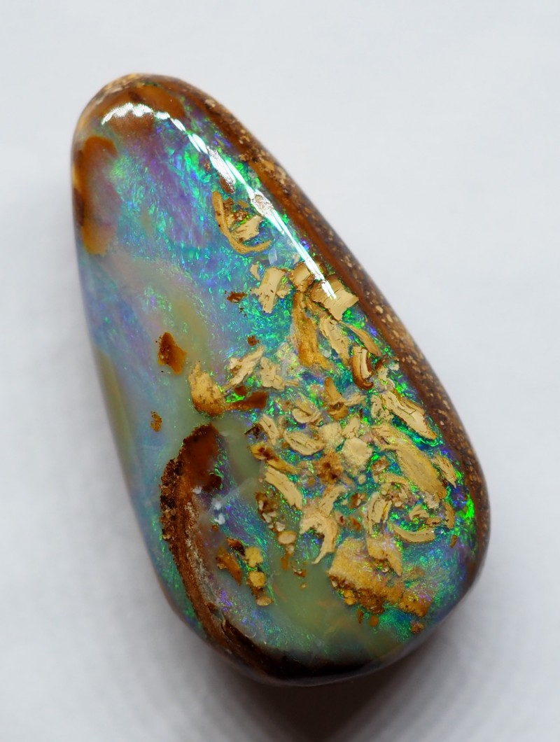 9.35CT VIEW WOOD REPLACEMENT BOULDER OPAL RI202
