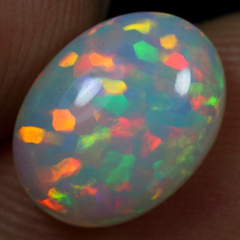 2.15cts EXTREME HEXAGON CELL PATTERN Natural Ethiopian Welo Opal