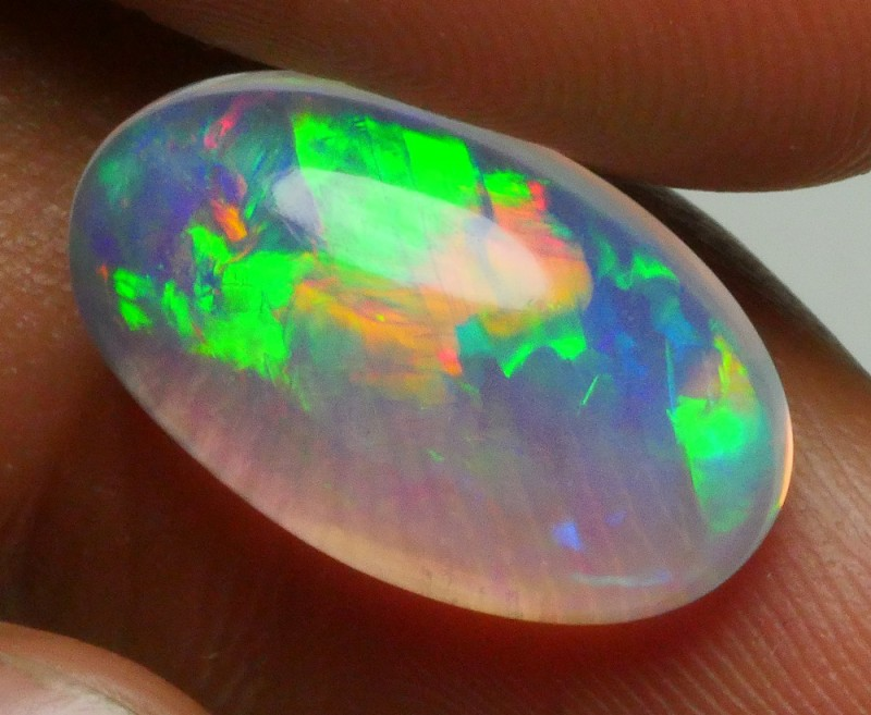 5.00 CRT CERY CLEAR BASE BROAD STRIPE PATTERN PLAY COLOR WELO OPAL