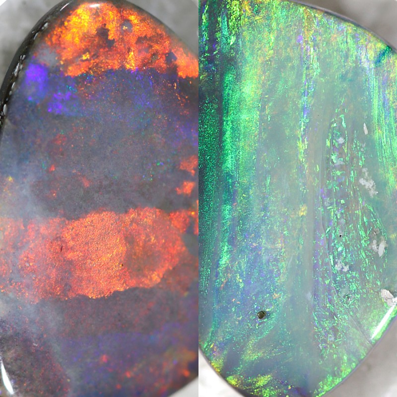 4.60 Cts Double Sided Nice Black Opal N2  SU 487