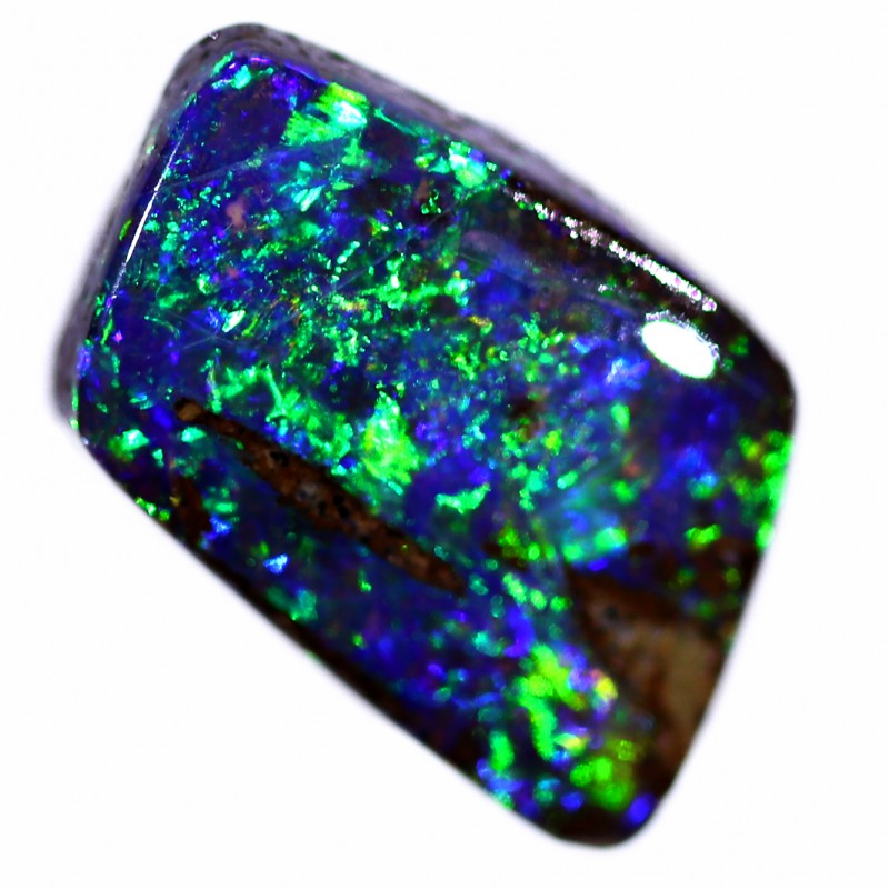 2.1ct 9x7 mm Pipe Wood Fossil Boulder Opal  [YPB-0015]