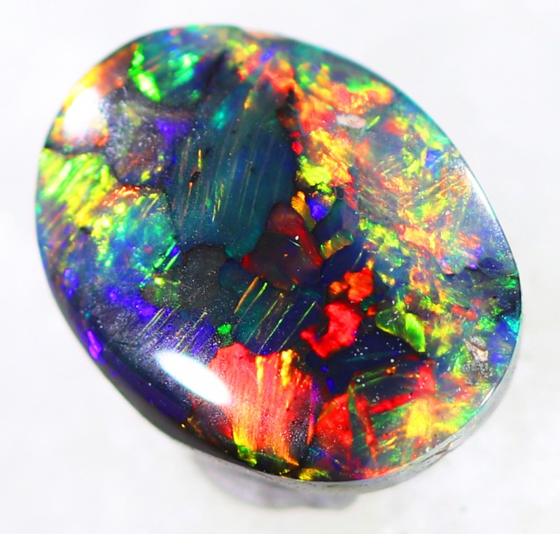 pictures of opal black fire boulder rough jelly crystal