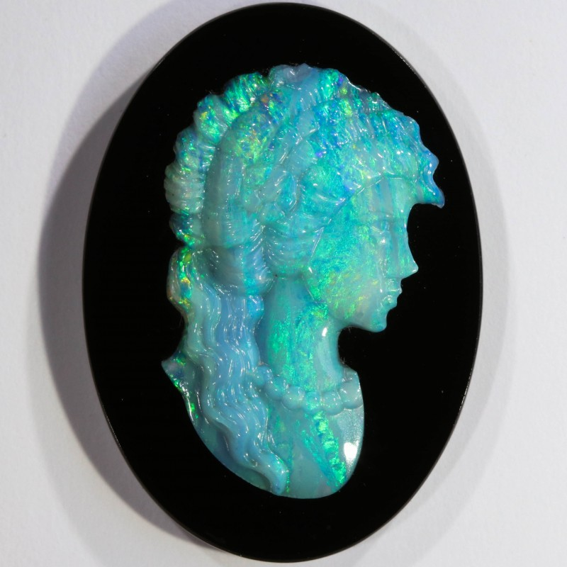 15.06 CTS  OPAL CAMEO CARVING [SEDA515]