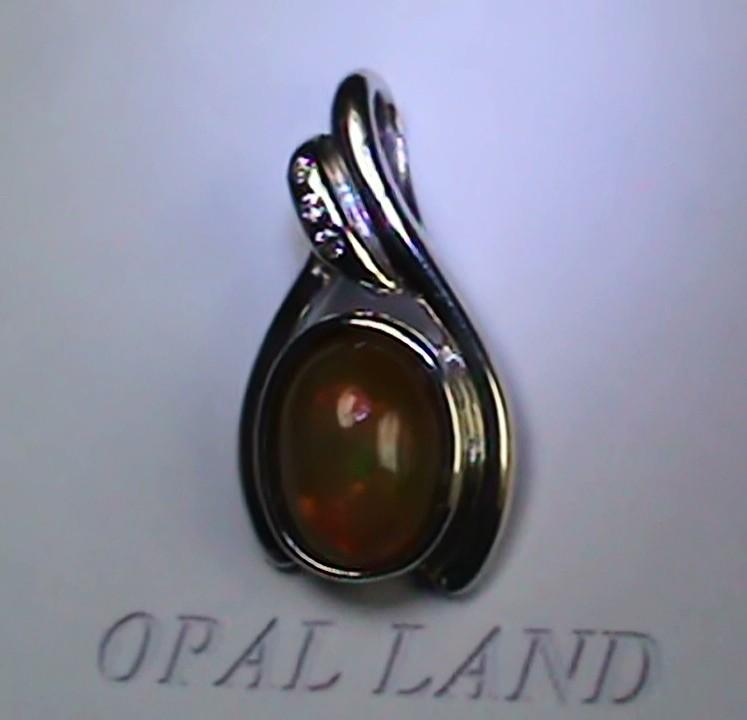 15.05 Stunning Modern 925 Silver Solid Welo Opal Pendant
