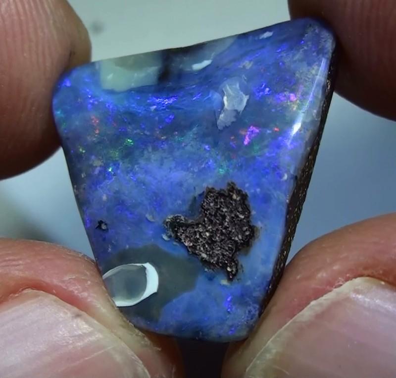 11.40 ct Blue Green Natural Queensland Boulder Opal
